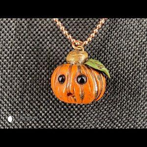 Jewelry - Kawaii Worried Pumpkin Halloween Pendant